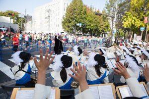 清教学園高校吹奏楽部 大阪マラソン2016